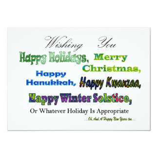 Green Multi holiday greetings Card