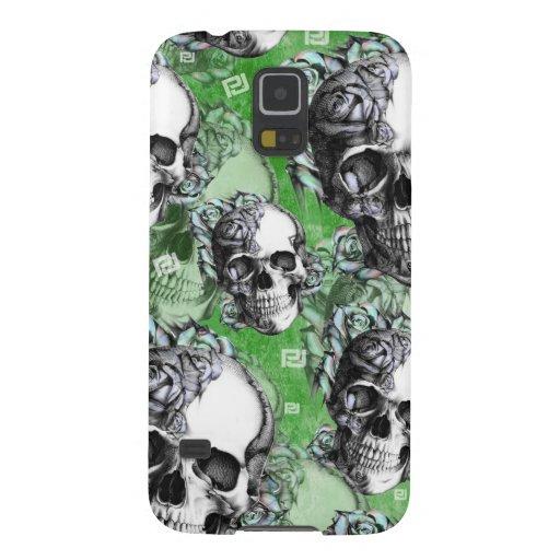 Green multi skull for mental health. galaxy s5 cases