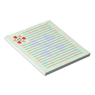 Green multicolored pattern note pad