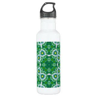 Green multicolored Pattern Water Bottle