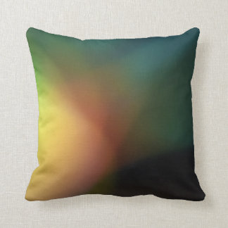 Green Multicolour Blurred Pattern Pillow
