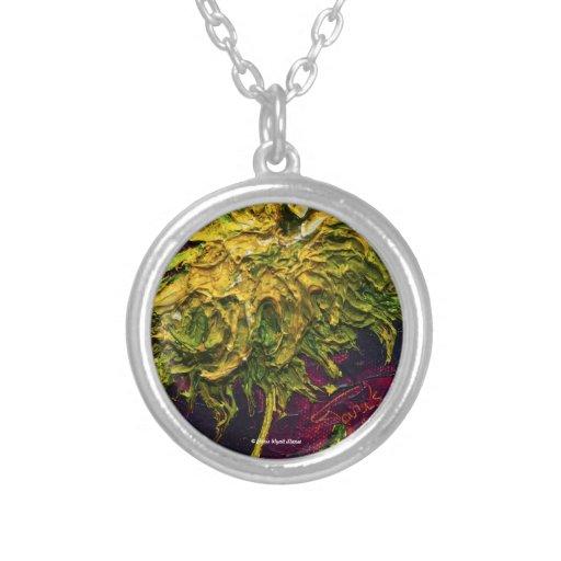 Green Mum Art Necklace