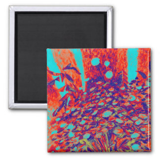 Green Mums 2 Inch Square Magnet