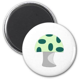Green Mushroom 2 Inch Round Magnet
