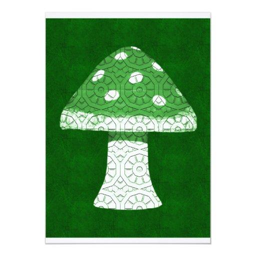 Green Mushroom 5x7 Paper Invitation Card