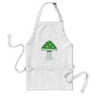 Green Mushroom Adult Apron