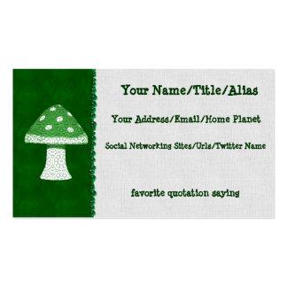 Green Mushroom Business Card