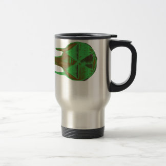 Green mushroom cloud cooking in the sky 15 oz stainless steel travel mug