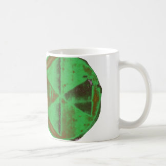 Green mushroom cloud cooking in the sky classic white coffee mug