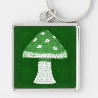 Green Mushroom Keychain