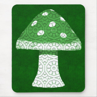 Green Mushroom Mouse Pad