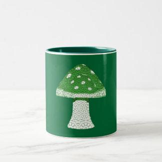 Green Mushroom Mugs