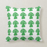Green mushroom pillow