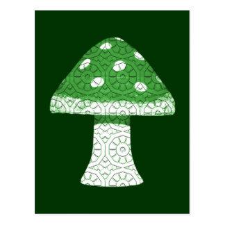 Green Mushroom Postcard
