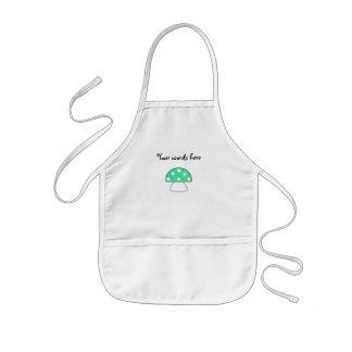 Green mushrooms kids' apron