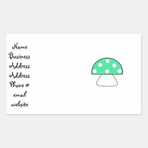 Green mushrooms rectangular sticker