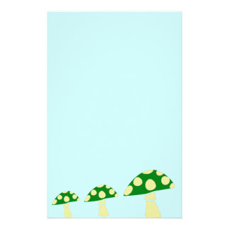 Green Mushrooms Stationery