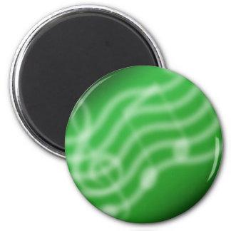 Green Music 2 Inch Round Magnet