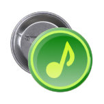 green music icon pin