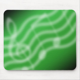 Green Music Mouse Pad