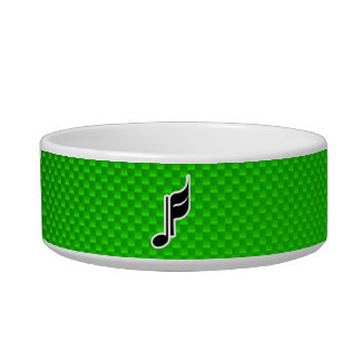 Green Music Note Cat Bowls