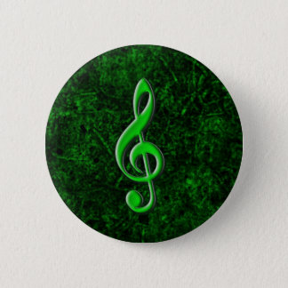 Green Music Note Symbol Button