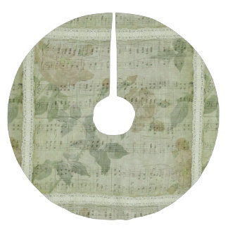 Green Music Sheet Christmas Tree Skirt