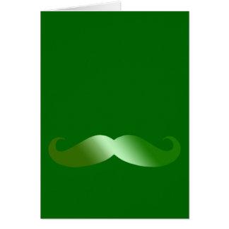 Green Mustache Card