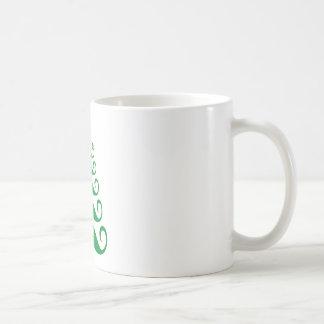 Green mustache Christmas tree Coffee Mug