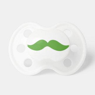 Green Mustache Pacifier