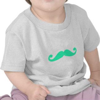 green mustache silhouette, design for tshirt