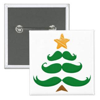 Green Mustache Tree Button