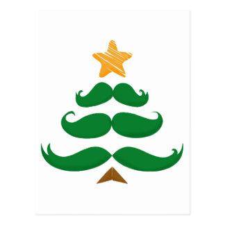 Green Mustache Tree Postcard