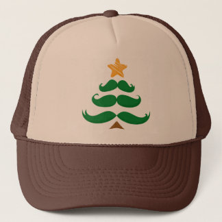 Green Mustache Tree Trucker Hat