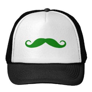 Green Mustache Trucker Hat