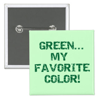Green My Favorite Color T-shirts and Gifts Buttons