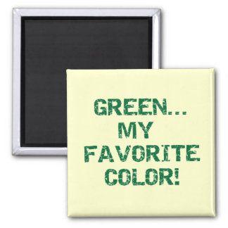 Green My Favorite Color T-shirts and Gifts Magnet