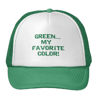 Green My Favorite Color T-shirts and Gifts Trucker Hat