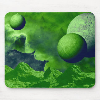 Green Mystic World Mouse Pad