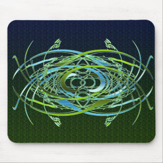 Green n Blue Swirls Mouse Pad