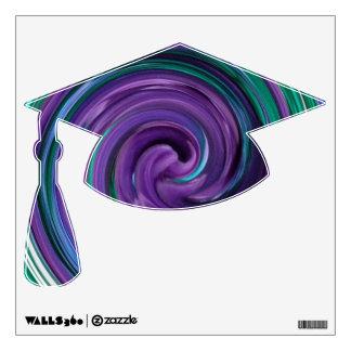 Green N Purple Swirl Wall Decal