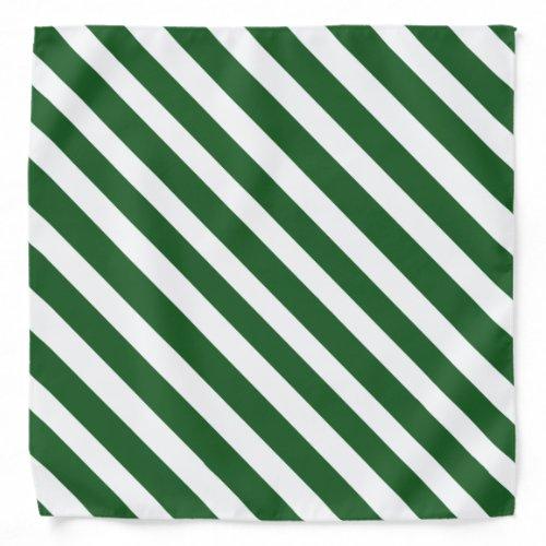 Green 'n White Pirate Stripes Bandana