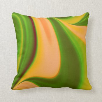 Green n Yellow Swirl Fractal American Mojo Pillow