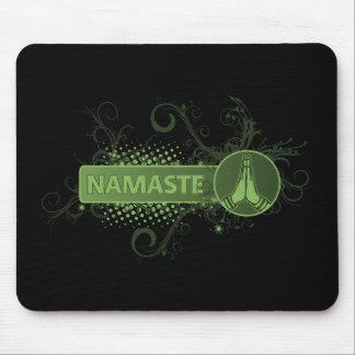 Green Namaste English Mouse Pad