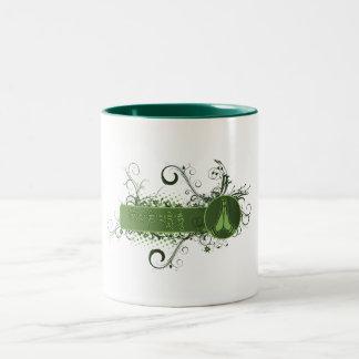 Green Namaste Tibetan Two-Tone Coffee Mug