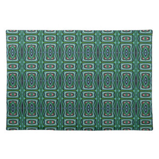 Green Native American Fabric Design Aztec Pattern Placemat