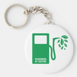 Green Nature Biofuel Basic Round Button Keychain