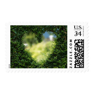 Green Nature Heart Valentine's Day Hedge Stamp