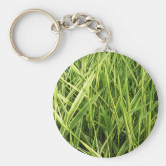 Green nature leafs natural Green Trees Earth Beaut Keychain