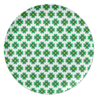 Green nature leafs natural Green Trees Earth Beaut Party Plates